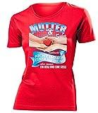 Mutter und Sohn vielleicht nicht immer einer Meinung aber immer ein Herz und eine Seele 5394 Frauen T-Shirt (F-R) Gr. S