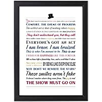 """The Greatest Showman Quotes Print, Unframed, A4 or 8x10"""""""
