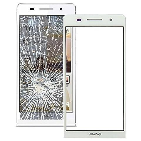 Ersatzglas Frontglas Displayglas für Huawei Ascend P6 Reparaturset mit Werkzeug Weiß