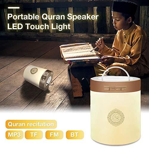 xuanyang524 Neueste Modell SQ112 Drahtlose Bluetooth Lautsprecher Muslim Touch Lampe Tragbare Quran Azan Reciter Lautsprecher Mit Licht Player Unterstützung MP3 FM TF Karte Radio Fernbedienung