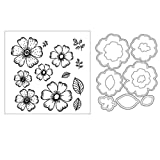 cicikiki Flower DIY Cutting Dies Stencil DIY Scrapbooking Embossing Paper Card Decor New