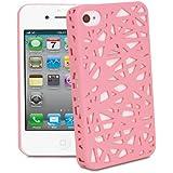 Funda de goma para Apple iPhone 4/4S - de Nido de Pájaro - rosa claro