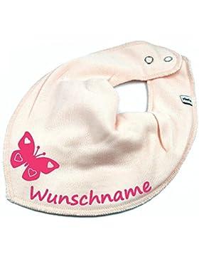 Elefantasie Halstuch Schmetterling mit Namen oder Text personalisiert für Baby oder Kind Verschiedene Ausführungen
