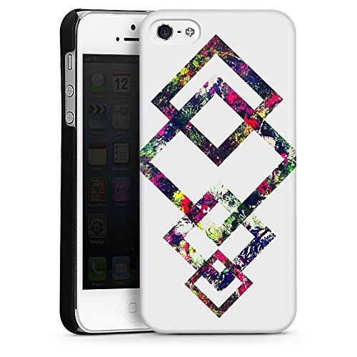 """artboxONE Handyhülle Apple iPhone 6, weiß Silikon-Case Handyhülle """"Coloured Geo Case"""" - Geometrie - Smartphone Silikon Case mit Kunstdruck hochwertiges Handycover von Mia Nissen Hard Case schwarz"""