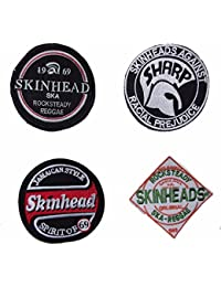 Warrior Set of 4 Classic Skinhead Sewn Patches