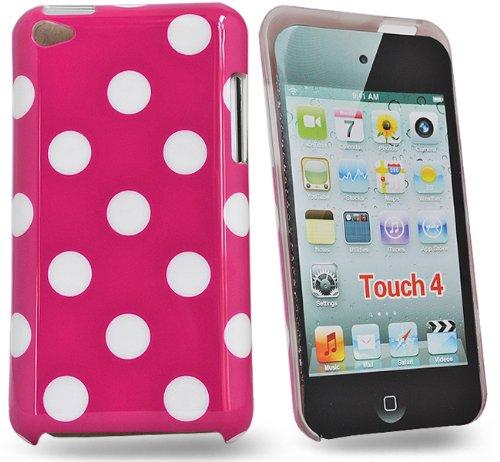 Accessory Master Punkt dot Hart Schutzhülle für Apple iPod Touch 4 rosa/weiß Rosa Ipod Touch Fällen