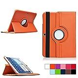 COOVY® Cover für Samsung Galaxy TAB 4 10.1 SM-T530 SM-T531 SM-T535 Rotation 360° SMART HÜLLE Tasche ETUI CASE Schutz STÄNDER | Farbe orange