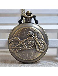2 : New Fashion IC XC NI KA Badge Quartz Pocket Watch Designer Watches Men Watch Women Analog Pendant Necklace...