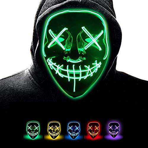 Danolt Halloween Party Masken leuchten unheimlich Maske Glow In Dark Cosplay-Maske für Halloween Christmas Kinder Party. (Disco Dark Halloween)