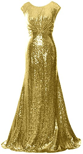 MACloth - Robe - Trapèze - Sans Manche - Femme doré clair