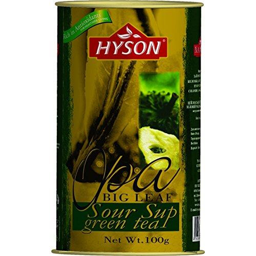 HYSON TEE Grüner loser Tee mit ANODA OPA Sour Sup Ceylon Tea 100g. (Anoda Grüner Tee 100g.)