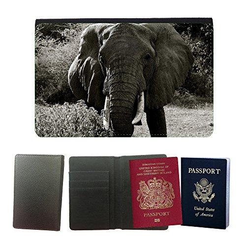 GoGoMobile Muster PU Passdecke Inhaber // M00124848 Elephant Manyara National Park Tier // Universal passport leather cover (Tiere Park National)