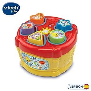 VTech Chimpón Tambor - Juguete Electrónico Encajable con Piezas para Insertar y Aprender Formas, Números y Animales, Multicolor (80-185122)