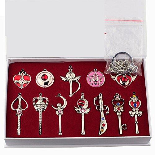 Schlüsselanhänger Heb 12 Produkte Magic Wand Props Silber Kettenanhänger Cosplay Kostüm Zubehör