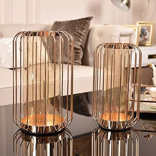 Li-lamp Metall Kerzenhalter Kreative Hause Licht Luxus Metall Glas Kerzenständer Dekoration Moderne Wohnzimmer Esszimmer Weichen Dekorationen