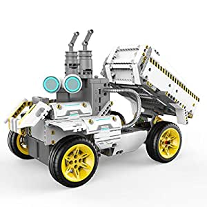 UBTECH JIMU Robot Builderbots Series: Overdrive Kit / App-Enabled Building and Coding STEM Learning Kit (410 Parts and Connectors)