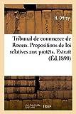 Tribunal de commerce de Rouen. Propositions de loi relatives aux protêts. Extrait du registre: des délibérations...