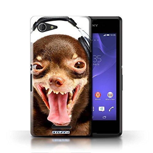 Kobalt® Imprimé Etui / Coque pour Sony Xperia E3 / Chien ridicule conception / Série Animaux comiques Chien ridicule