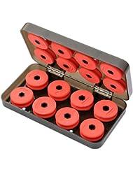 16bas de ligne en mousse avec étui de rangement Rouge