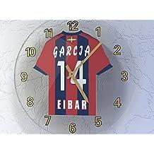 La Liga–Español camiseta de fútbol relojes de pared–cualquier nombre, cualquier número, cualquier equipo–personalización gratuita., hombre, SD EIBAR
