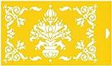 30cm x 17,5cm Flexibel Kunststoff Universal Schablone - Textil Kuchen Wand Airbrush Möbel Dekor Dekorative Muster Torte Design Technisches Zeichnen Zeichenschablone Wandschablone Kuchenschablone - Dekorative Belaubte Rahmen Blätter