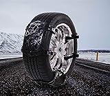 gaeruite 6pcs Autoreifen Schneeketten Set, Anti-Skid Doppelschnalle Ketten mit verstellbaren Spanngurten für SUV, Auto Winter Fahren Sicherheitsketten