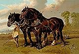 Fine Art Print–Clydesdale Hengst und Mare, 1900von Bentley Global Arts Gruppe, canvas, multi, 19 x 13