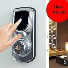Sin llave seguridad inteligente electrónico Pantalla táctil Teclado Cerradura para puerta de seguridad Uso sin motor de casa Entry 6600–101A Plata