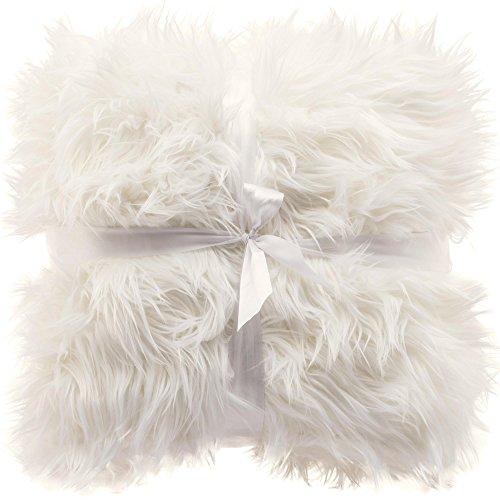 CelinaTex Kuscheldecke 150x200 Langhaar Schaffell Sofadecke hochfloriges Fellimitat, samtig weiche Nicki Qualität, Überwurf TV Decke Grace Wohndecke weiß 5001502