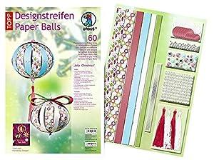 Ursus 23500099 - Diseño Rayas de Papel Balls Jolly Christmas