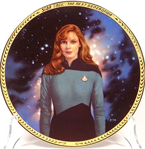 Star Trek Hamilton Plate Collection Dr. Beverly Crusher limitierter Sammelteller inklusive Aufsteller