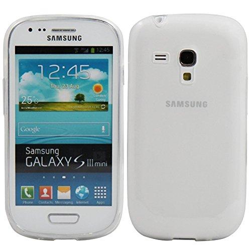 ELECTRÓNICA REY Funda Carcasa Gel Transparente para Samsung Galaxy S3 Mini, Ultra Fina 0,33mm, Silicona TPU de Alta Resistencia y Flexibilidad