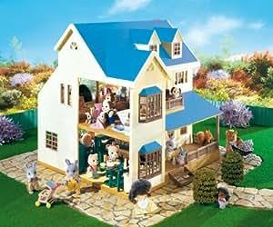 Sylvanian Families Hilltop Manor avec 6 chiffres und ; Plus de 30 Acc