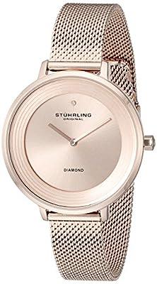 Stührling Original 589.05 - Reloj analógico para mujer, correa de acero inoxidable, color oro rosa de Stührling Original