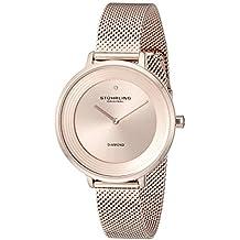 Stührling Original 589.05 - Reloj analógico para Mujer, Correa de Acero Inoxidable, Color Oro