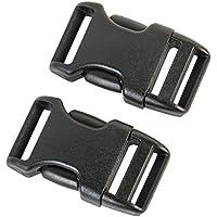 Duraflex Steckverschluss in 20 mm, 25 mm, 38 mm, 50 mm, Schwarz, Kunststoff Klickverschluss, Klippverschluss, Steckschließer, Steckschnalle, Ersatzschnalle