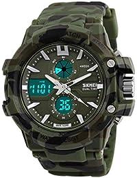 Reloj doble / deportes al aire libre de los hombres / reloj electrónico impermeable de la montaña / reloj multi-función del salto , camouflage