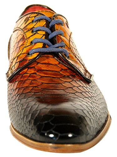 Calzaturificio Lorenzi S.a.s.  7279, Chaussures de ville à lacets pour homme - marron Marrone (Cuoio)
