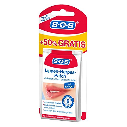 SOS Lippenherpes-Patch | Medizinprodukt | diskreter Schutz und Soforthilfe bei Lippenherpes | jetzt 50% mehr Inhalt (1)