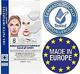 Strisce per punti neri e impurità, cerroti contro comedoni, pulisce i pori del naso strisce purificando 8 strisce