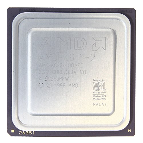 AMD Mobile K6 AMD-K6-2/400ACK 400MHz/32KB/66/100Mhz Sockel/Socket 7 Super 7 CPU (Generalüberholt) Amd Mobile