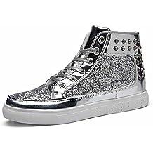 Herren Und Damen Nieten Rock Punk Flache Schuhe Paar Mode Skateboard Schuhe Unisex Hallo-Top Turnschuhe
