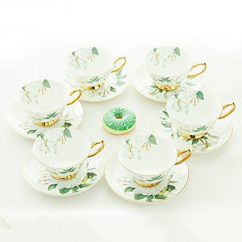 Ensemble de café en céramique / tasse de café créative simple / 6 ensembles de tasses de café de tasse de café / cadeau (4 couleurs en option) ( couleur : A )