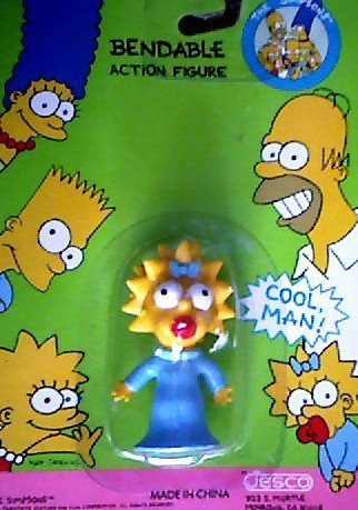 Maggie Simpson Bendable Action Figure - The Simpsons by Jesco 1