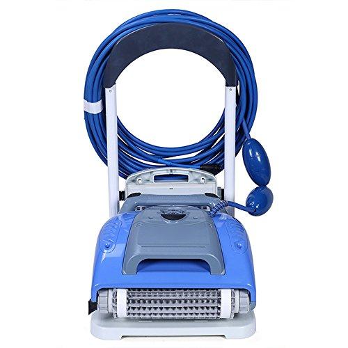 TOPQSC Robot limpiador de piscina sobre suelo con tecnología de limpieza rápida (Automatic Pool vacío)