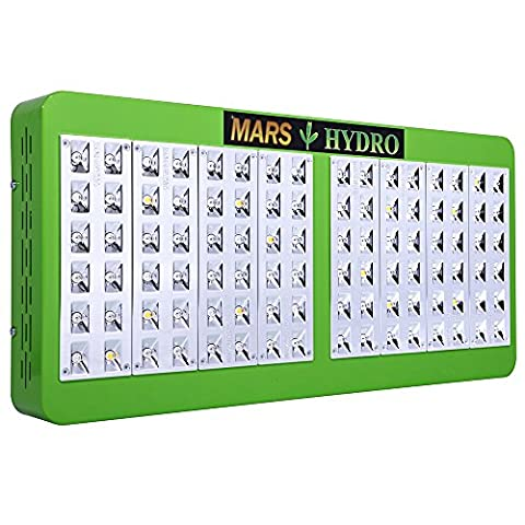 MarsHydro Reflector 96 LED Grow Light Full Spectrum 200w~205w for Indoor and Greenhouse Hydroponic Plants Veg Flower Growing with Dual Growth & Bloom Switches Big Coverage (5watt Chips)