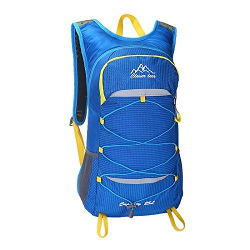 Outdoor Bike Rucksack leicht wasserdicht Traveling Bergsteigen Wandern Tasche mit Regen Abdeckung für Männer und Frauen 5 Farben 0,5 kg H48 x W28 x T16 cm Blue