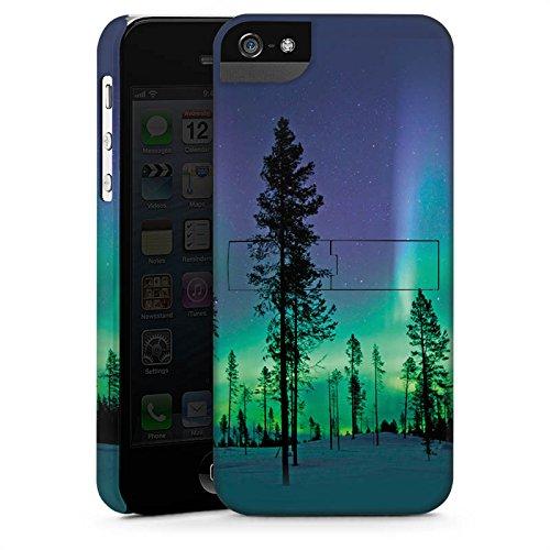 Apple iPhone X Silikon Hülle Case Schutzhülle Bäume Himmel Mystisch Premium Case StandUp