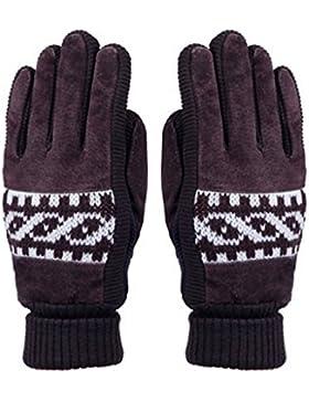 QKR&bellissimi guanti pelle di maiale guanti Uomini inverno ispessimento Cavalcata Tenere caldo più velluto A...