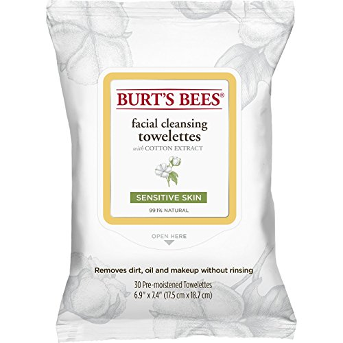 burts-bees-sensitive-facial-cleansing-towelettes-with-cotton-extract-30-count-by-burts-bees
